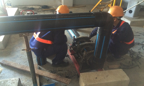 Install HDPE Pipe in Utility Room IML